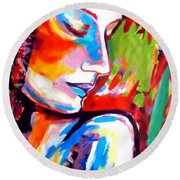 Round Beach Towel featuring the painting Insight by Helena Wierzbicki