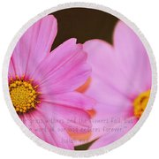 Inspirational Flower 2 Round Beach Towel by Eric Liller