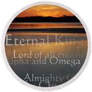 Inspirational Sunset Round Beach Towel
