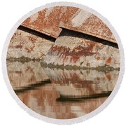 Intake Pipes Round Beach Towel
