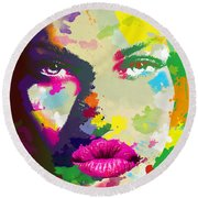 Intensity Round Beach Towel by Anthony Mwangi