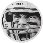 Intensity Tom Brady Round Beach Towel by Tamir Barkan