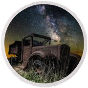 International Milky Way Round Beach Towel