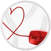 Internet Love Round Beach Towel