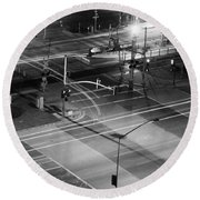 Round Beach Towel featuring the photograph Intersection by Heidi Smith