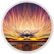 Intersections In The Sky Round Beach Towel