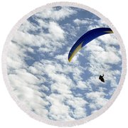 Into The Blue Yonder Round Beach Towel