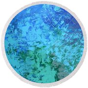 Into The Deep Blue Sea Round Beach Towel