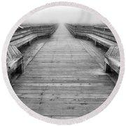 Into The Fog Round Beach Towel by Cheryl Hoyle