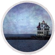 Into The Night Round Beach Towel