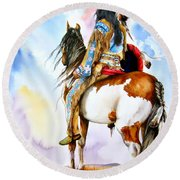 Into The Promised Land Round Beach Towel