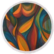 Into The Reeds Round Beach Towel