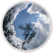 Round Beach Towel featuring the photograph Into The Sky by Aimee L Maher Photography and Art Visit ALMGallerydotcom