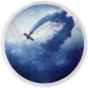 Into The Unknown Round Beach Towel