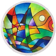 Into The Wind Round Beach Towel