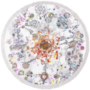 Intracellular Diversion Round Beach Towel