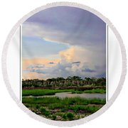 Intracoastal Colours Round Beach Towel