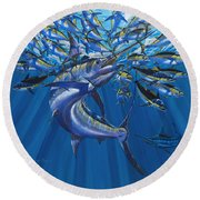 Intruder Off003 Round Beach Towel