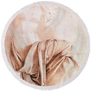 Inv. 1887-5-2-118 Recto W.10 Study Of Drapery Drawing Round Beach Towel