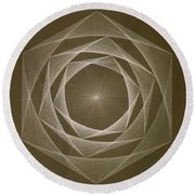 Round Beach Towel featuring the drawing Inverted Energy Spiral by Jason Padgett