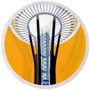 Inverted Needle Round Beach Towel