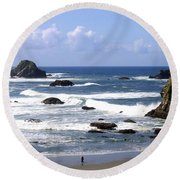 Invigorating Sea Air Round Beach Towel
