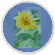 Inviting Sunflower Small Sunflower Art Round Beach Towel