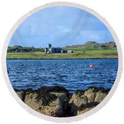 Iona Abbey Isle Of Iona Round Beach Towel