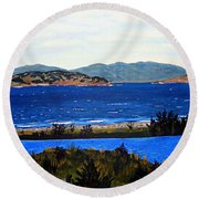 Round Beach Towel featuring the painting Iona Formerly Rams Islands by Barbara Griffin