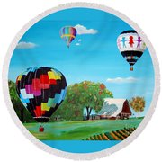 Iowa Balloons Round Beach Towel
