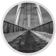 Ipfw Bridge Round Beach Towel