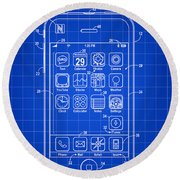 iPhone Patent - Blue Round Beach Towel
