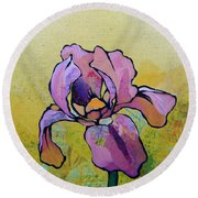 Iris I Round Beach Towel by Shadia Derbyshire