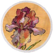 Iris II - Series II Round Beach Towel by Shadia Derbyshire