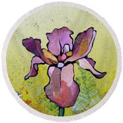 Iris II Round Beach Towel by Shadia Derbyshire
