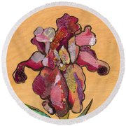 Iris IIi - Series II Round Beach Towel by Shadia Derbyshire