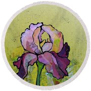 Iris IIi Round Beach Towel by Shadia Derbyshire