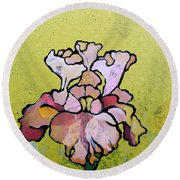 Iris Iv Round Beach Towel by Shadia Derbyshire