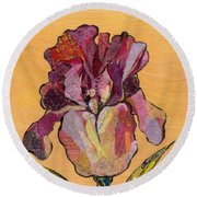 Iris V  - Series V Round Beach Towel by Shadia Derbyshire