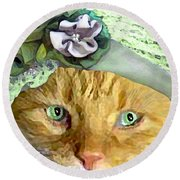 Irish Cat Round Beach Towel