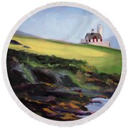 Irish Lighthouse Round Beach Towel