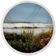 Irish Mist Over Lissycasey Round Beach Towel