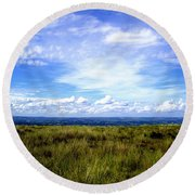 Round Beach Towel featuring the photograph Irish Sky by Nina Ficur Feenan