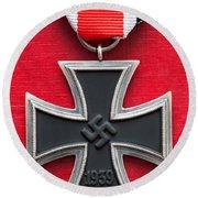 Iron Cross Medal Round Beach Towel
