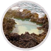 Ironshore Tidewater Pool Round Beach Towel by Amar Sheow