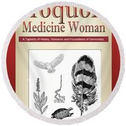 Iroquois Cover Art Round Beach Towel by Nola Lee Kelsey