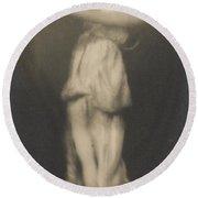 Isadora Duncan   Dancer Round Beach Towel