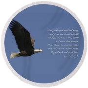 Isaiah 40 Round Beach Towel