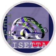 Isetta Round Beach Towel