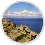 Isla Del Sol Round Beach Towel by Suzanne Luft